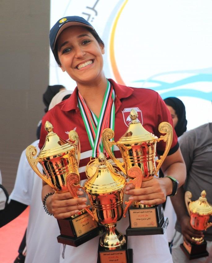 UOWD graduate Sarra Lajnef triumphs at UAE Rowing Championships