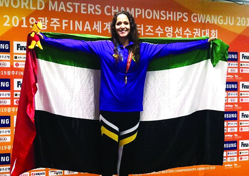 سارة تهدي الإمارات ذهبية ثانية في مونديال السباحة