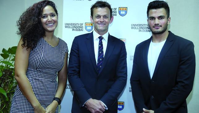 UOWD's Vijayakumar and Lajnef get Adam Gilchrist Sports Award